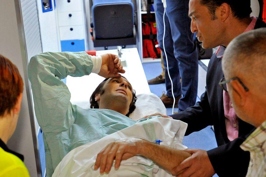 David Mora après avoir été blessé par son toro - Maxppp