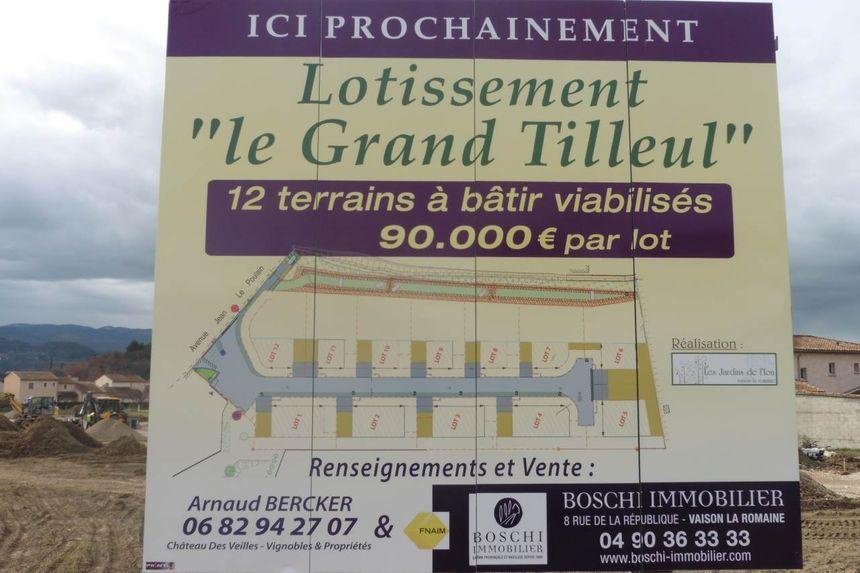 Le lotissement Grand Tilleul à vaison la Romaine réserve deux parcelles aux jeunes de moins de 35 ans. - Aucun(e)