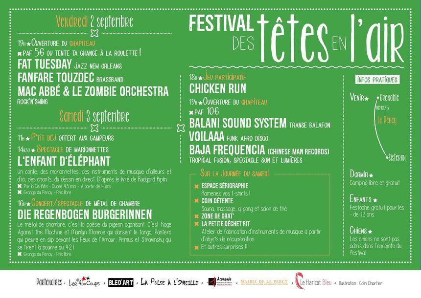 """programme festival """"les têtes en l'air"""" - Aucun(e)"""