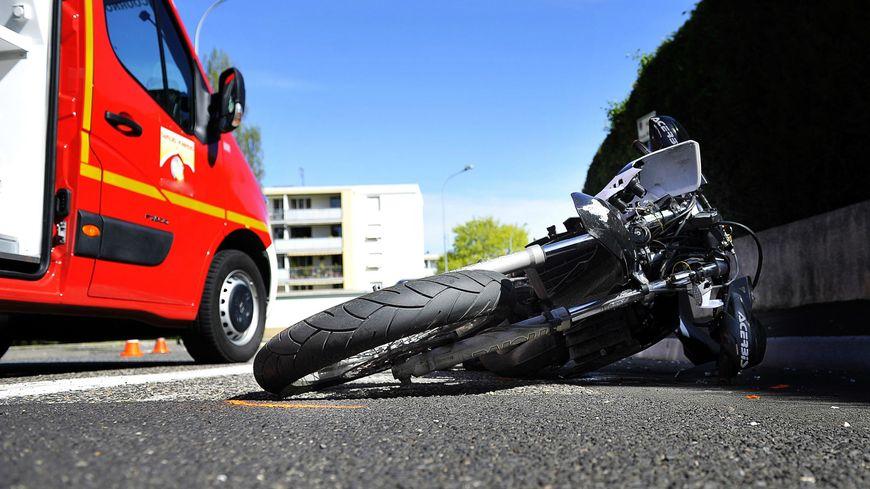 Accident moto (illsutration)
