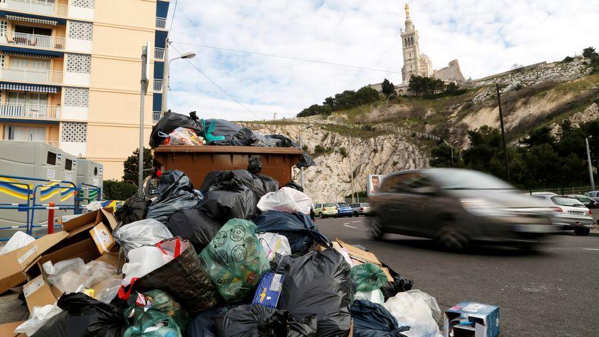 Illustration d'une précédente grève des éboueurs à Marseille