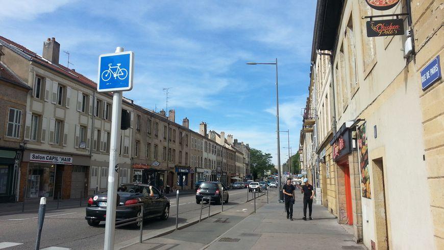 La rue de Paris, à Metz, où résidaient les deux étudiants marocains suspectés de radicalisation et expulsés le 26 août