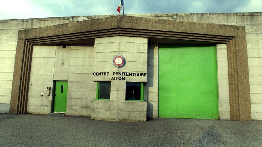 L'entrée du centre pénitentiaire d'Aiton