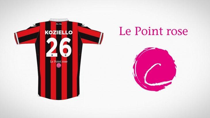 """L'association """"Le Point rose"""" s'affichera sur le maillot de l'OGC Nice en Europa League."""