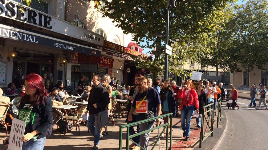 Une cinquantaine de manifestants anti-chasse ont défilé, ce samedi, dans les rues de Valence.