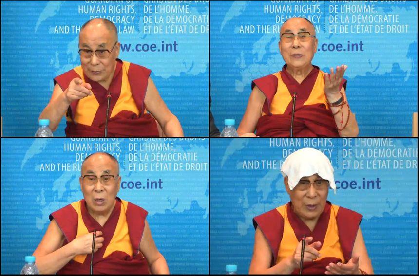 Le dalaï-lama au Conseil de l'Europe, jeudi 15 septembre. - Aucun(e)