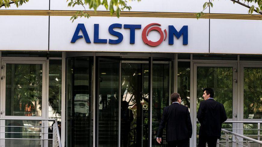 Le siège de l'entreprise Alstom, à Saint-Ouen (Seine-Saint-Denis)