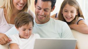Famille sur le web