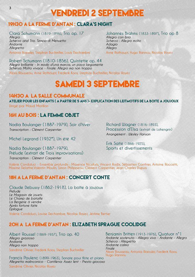 """Programme """"Musique au bois"""" 2016 - Aucun(e)"""