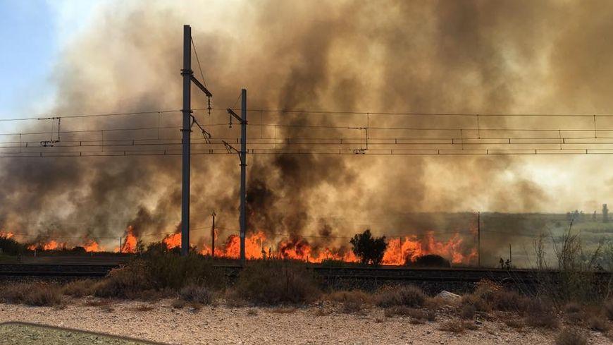 Photo de l'incendie prise par une témoin