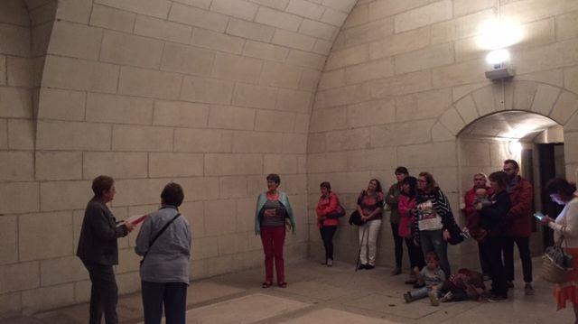 La salle voutée de la crypte est visitable uniquement durant les Journées du Patrimoine.