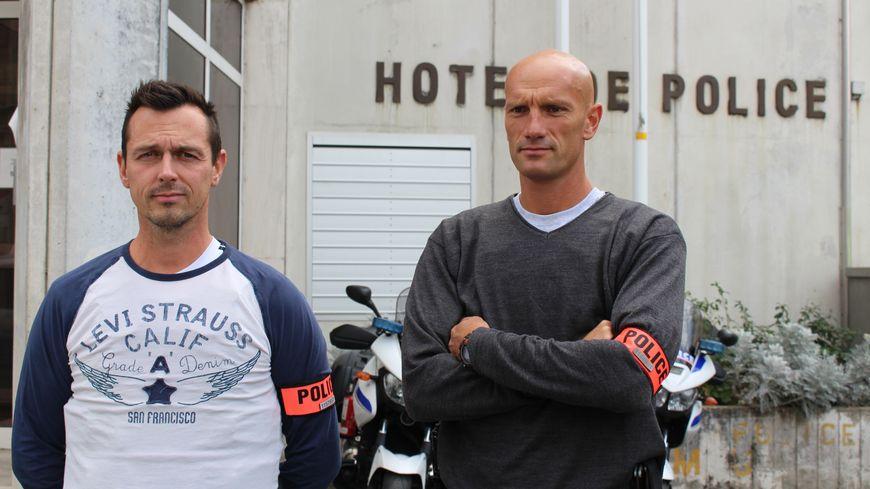 Les deux policiers sont partenaires depuis huit ans à la brigade anti-criminalité de Périgueux