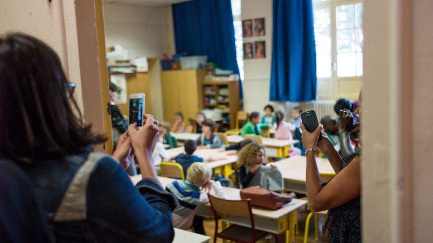 Jour de rentrée dans une école primaire.