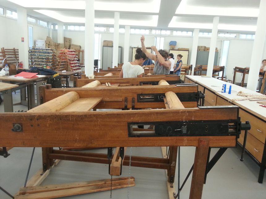 L'atelier se situe au 3e étage de la Cité de la tapisserie - Radio France