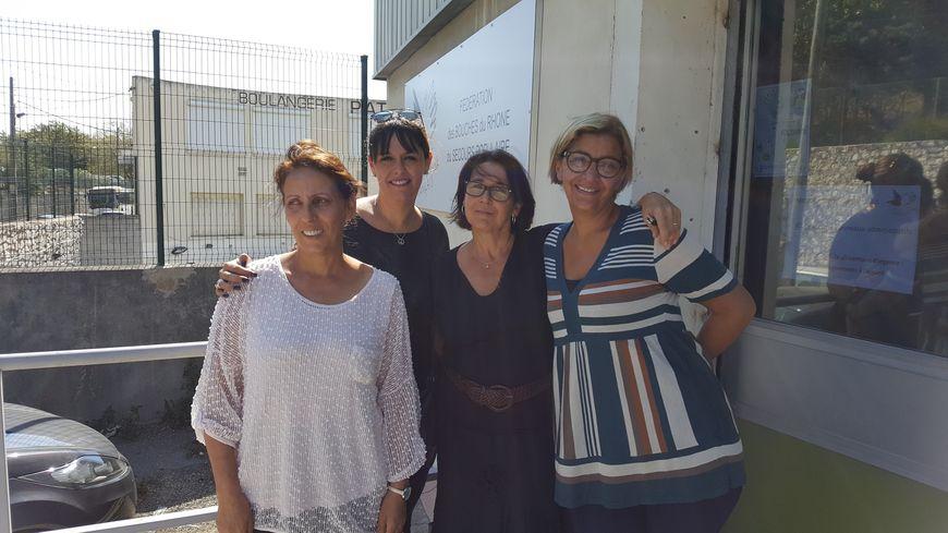 """De gauche à droite : Farida (secrétaire départementale), Linda (bénévole), Sonia (directrice départementale) et Rafida (bénévole). Les """"guerrières"""" du Secours Populaire comme elles aiment dire."""