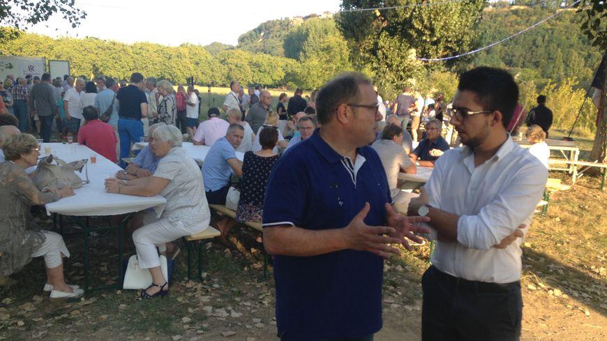 La rentrée de Jérôme Peyrat dans un camping de sa ville La-Roque-Gageac