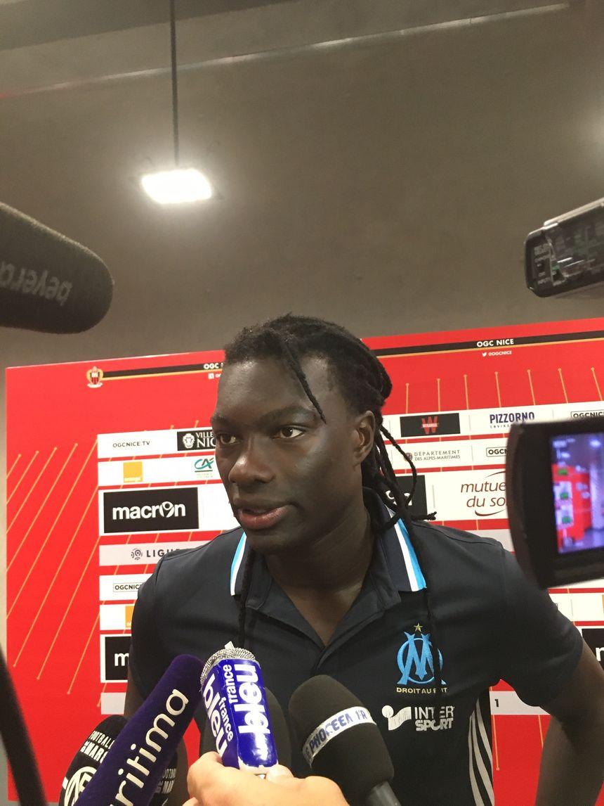 Bafé Gomis, attaquant et capitaine de l'OM à Nice ce dimanche - Radio France