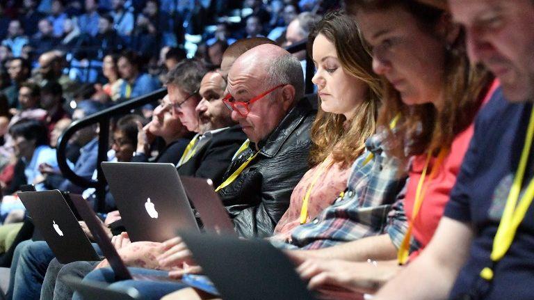 Lors de la présentation de nouveaux produits Apple à San Francisco, le 7 septembre 2016.