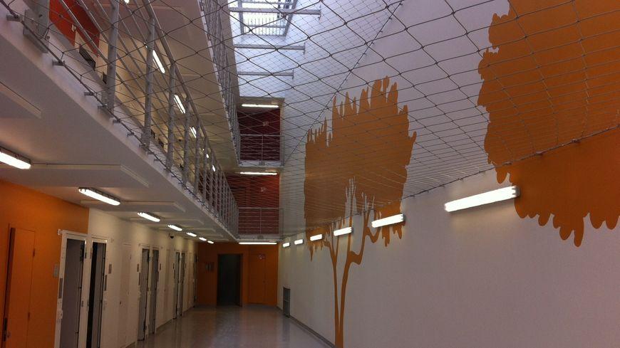 """L'intérieur de l'un des bâtiments """"maison centrale"""" de la prison de Valence"""