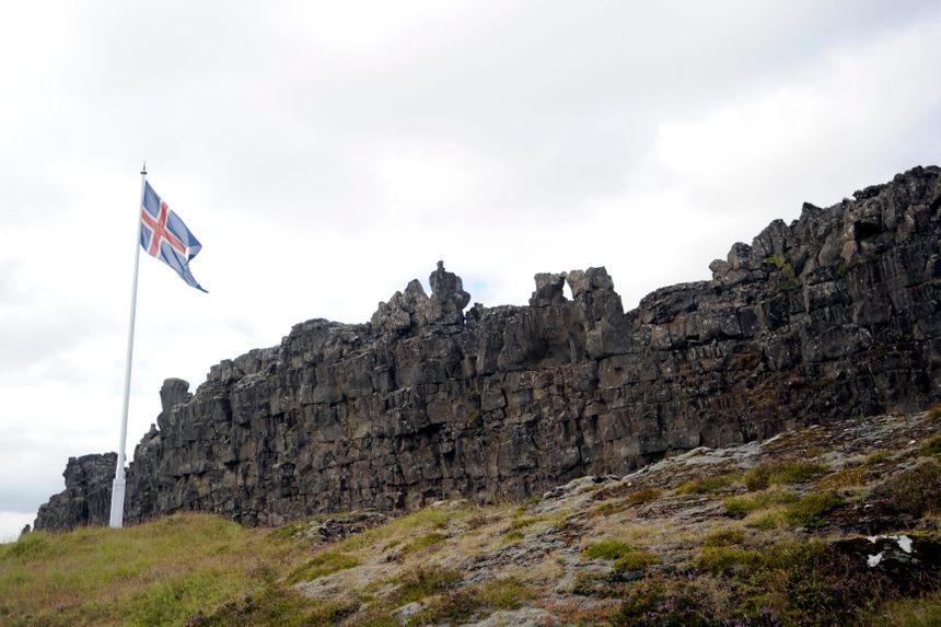 Le parlement des anciens Vikings, l'Althing, dans le parc islandais de Thingvellir - Maxppp