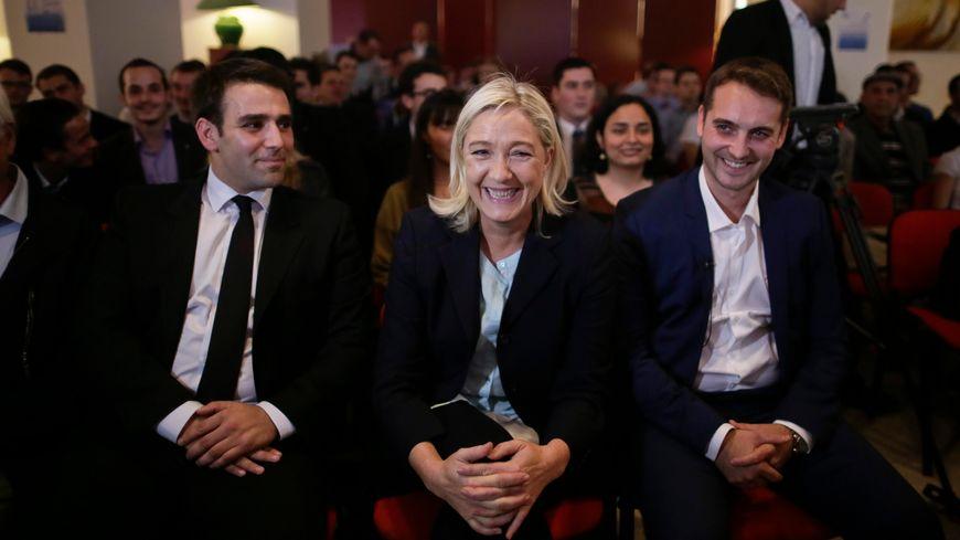 Thibaut Monnier FN38 avec Marine Le Pen