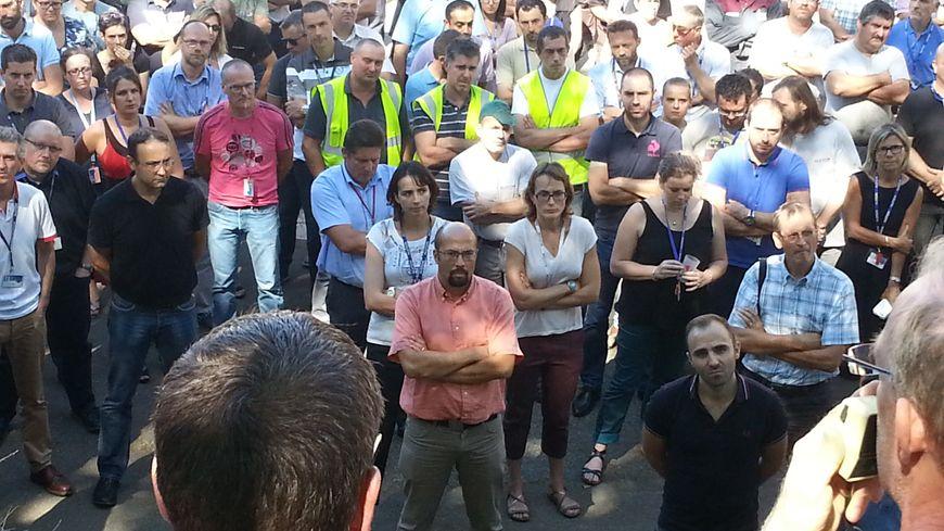 L'Assemblée générale des salariés d'Alstom transport à Belfort