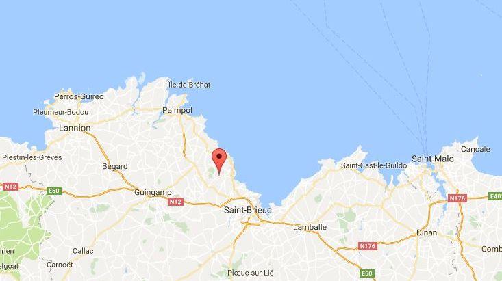 """L""""école visée se situe à Lantic près de Saint-Brieuc"""