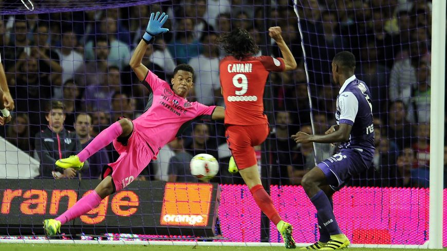 Grand match du gardien toulousain Alban Lafon (Défaite pour le PSG face au TFC) 23-09-2016