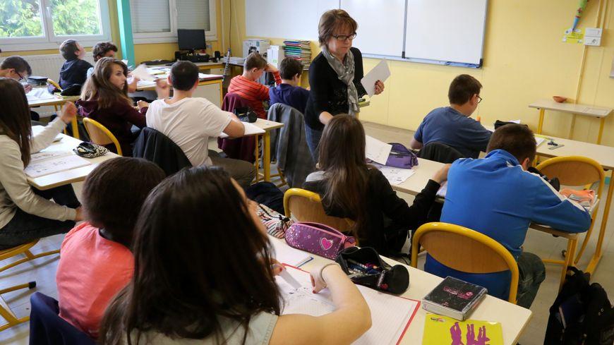 Cours d'allemand  au collège de Stiring-Wendel l'an dernier