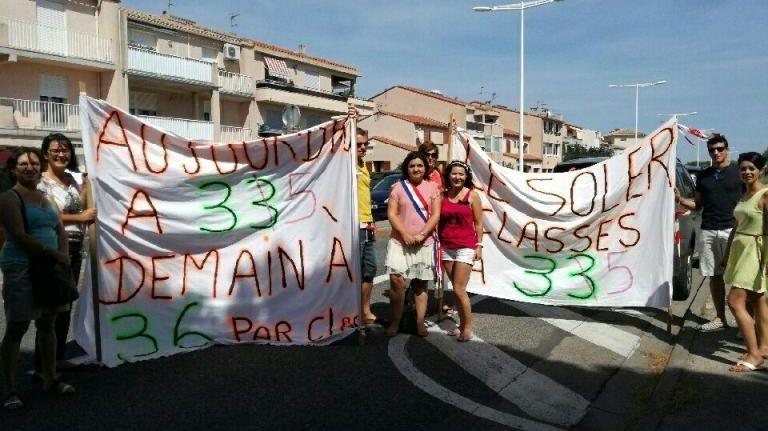 Les parents d'élèves du Soler, de Passa, de Sournia et Canohès ont manifesté devant l'inspection académique