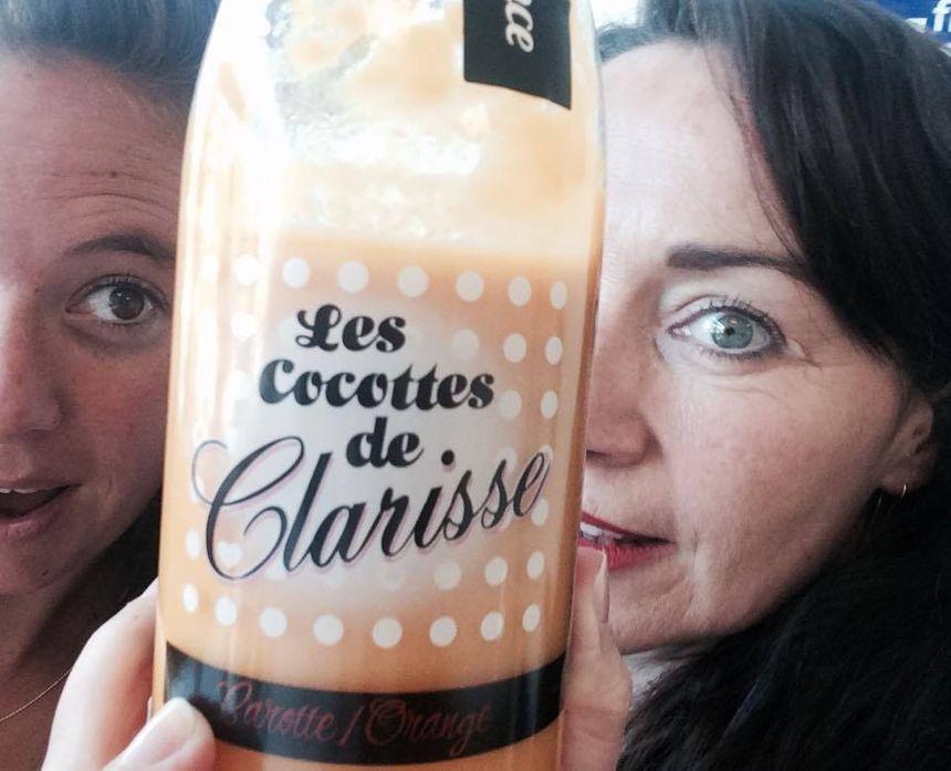 Mélanie Masson(FB Provence) et Clarisse après l'émission  - Radio France