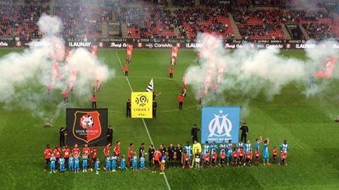 Victiore du Stade Rennais contre l'OM lors de la 6è journée de ligue 1