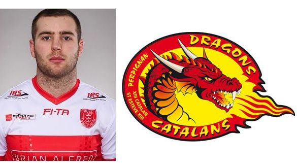 Iain Thornley de Hull KR aux Dragons Catalans