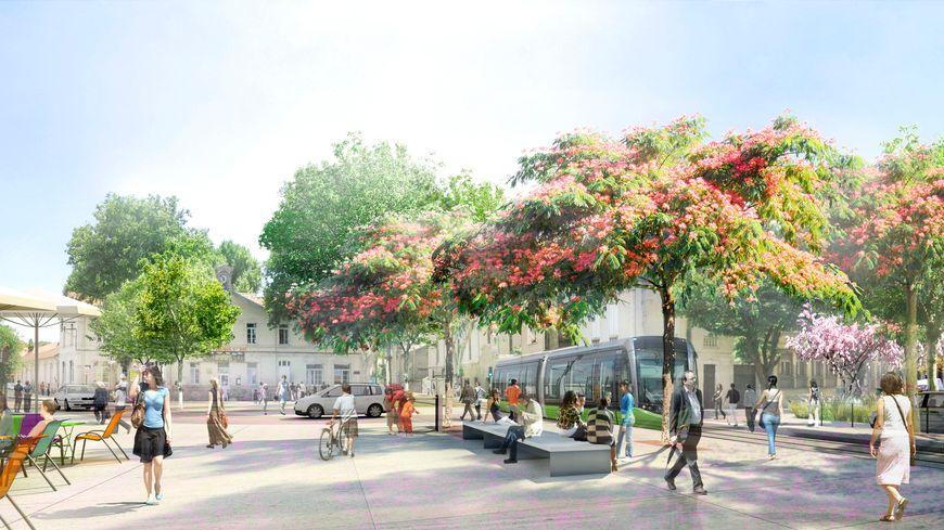Tramway du Grand Avignon, quartier Saint Ruf