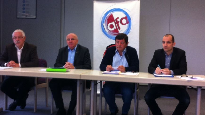 Albert Gemmrich et les dirigeants de la LAFA