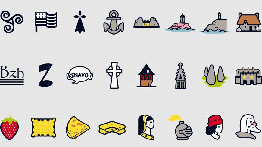 L'agence de communication Breizhtorm a créé 72 pictogrammes bretons pour votre portable
