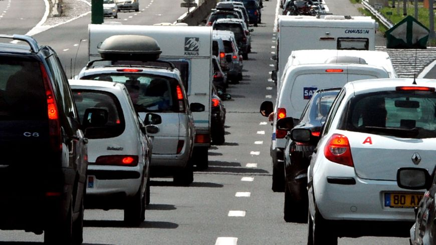 Embouteillage sur la route (photo d'illustration).