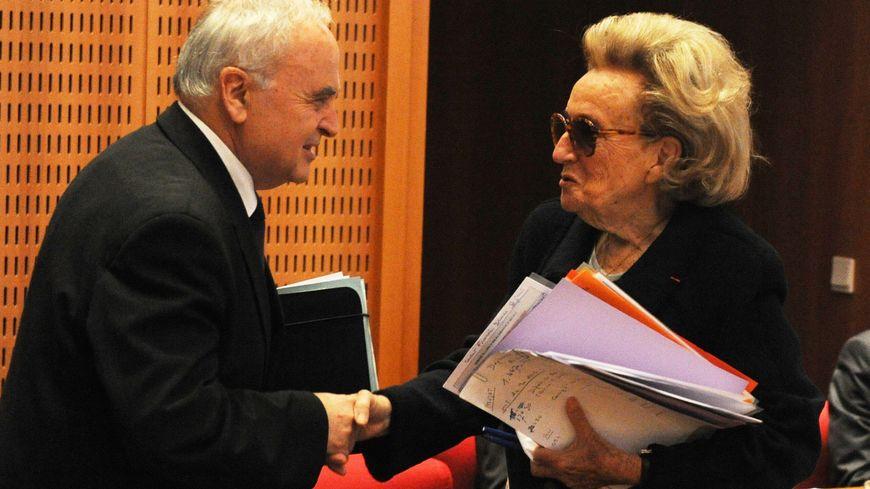 Gérard Bonnet aux côtés de Bernadette Chirac, le jour de son élection à la tête du Conseil général.