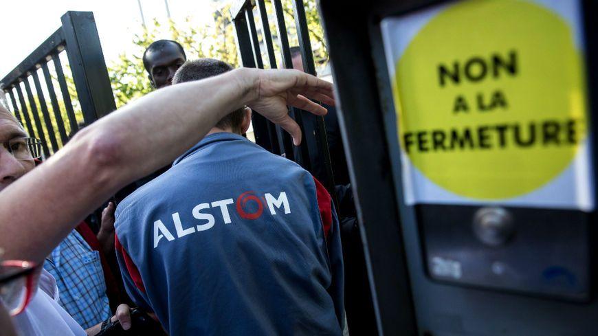 manifestation des salariés d'Alsthom à Belfort