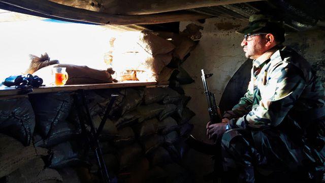 Vigie Pechmerga à 1,5 km des positions de l'Etat Islamique