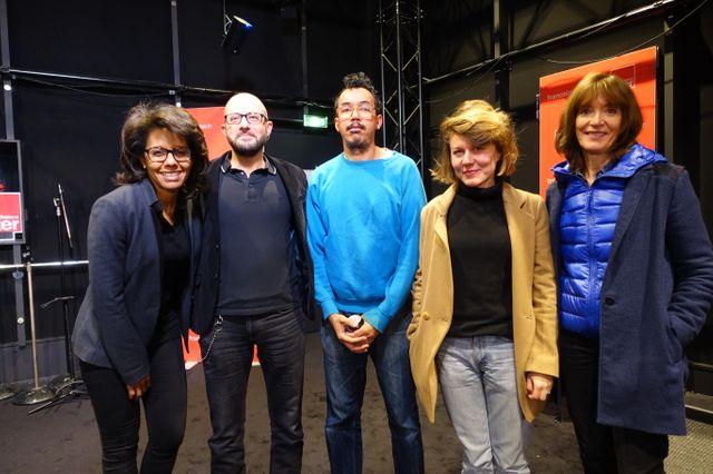 Audrey Pulvar, Hubert Artus, Karim Madiani, Diane Turquety et Nicole Bacharan