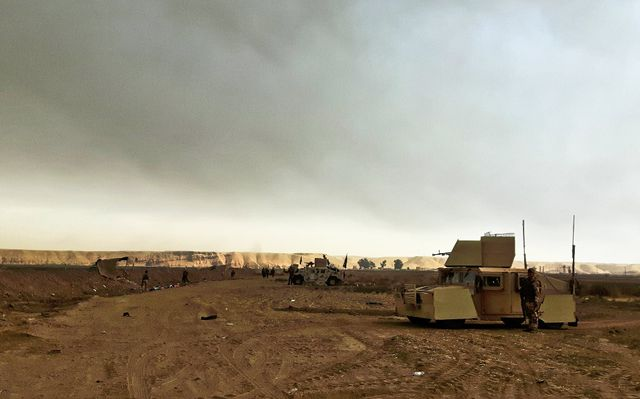 Ligne de défense irakienne à Gayyara