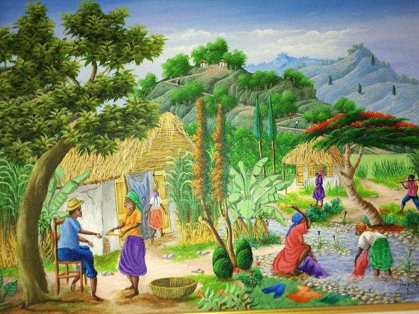 Un tableau représentant Haïti. - Radio France
