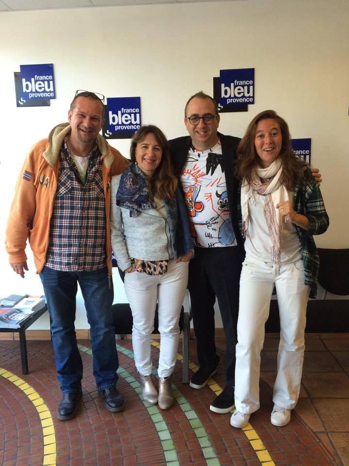 Pierre Berthias, Karine Lauthier (Villa des Chefs), Lionel Lévy et Mélanie Masson (FB Provence) - Radio France