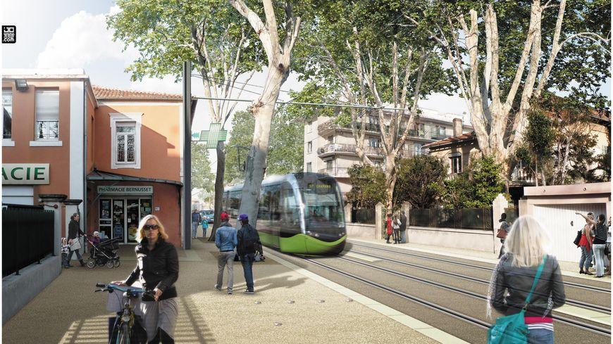 Le projet de Tram zone de Tarascon
