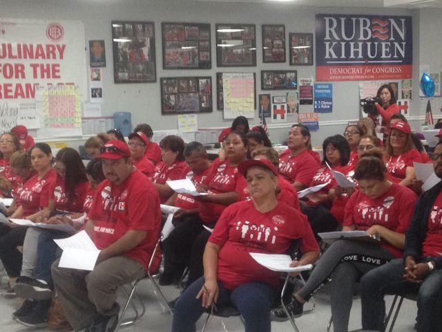 #USA 2016 : les bénévoles du puissant syndicat de l'hôtellerie établissent leur plan de bataille électoral