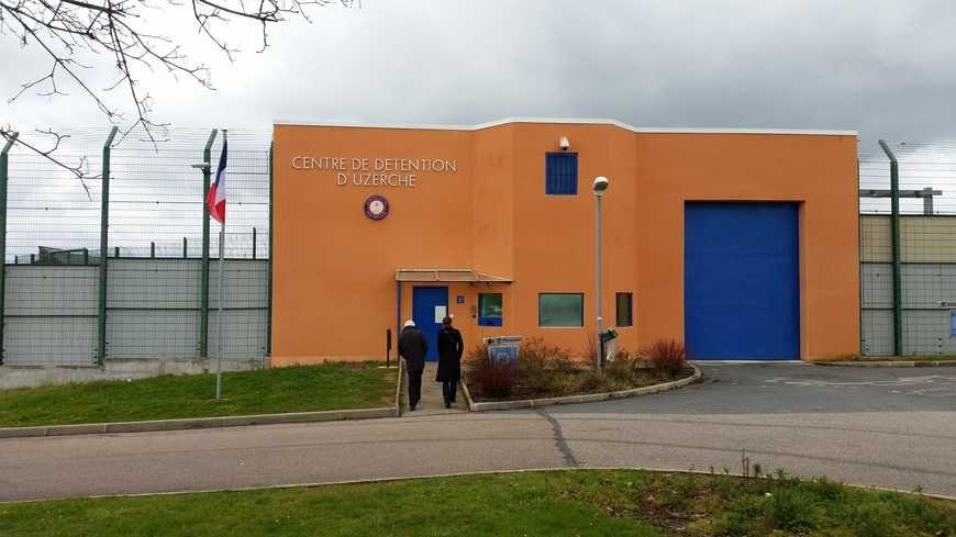 L'entrée du centre de détention d'Uzerche