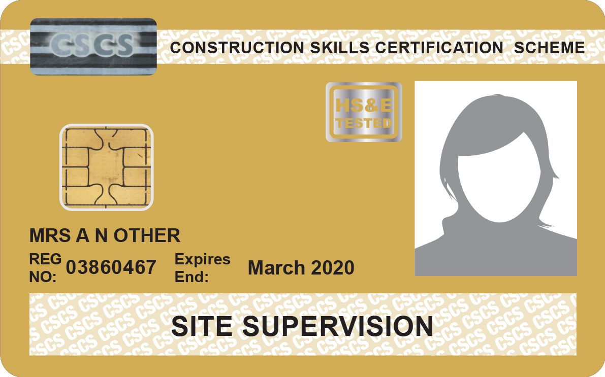 Cscs Gold Card >> Supervisors Cards Construction Skills People