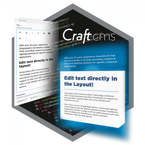 CraftCMS directly edit content in the Content management system