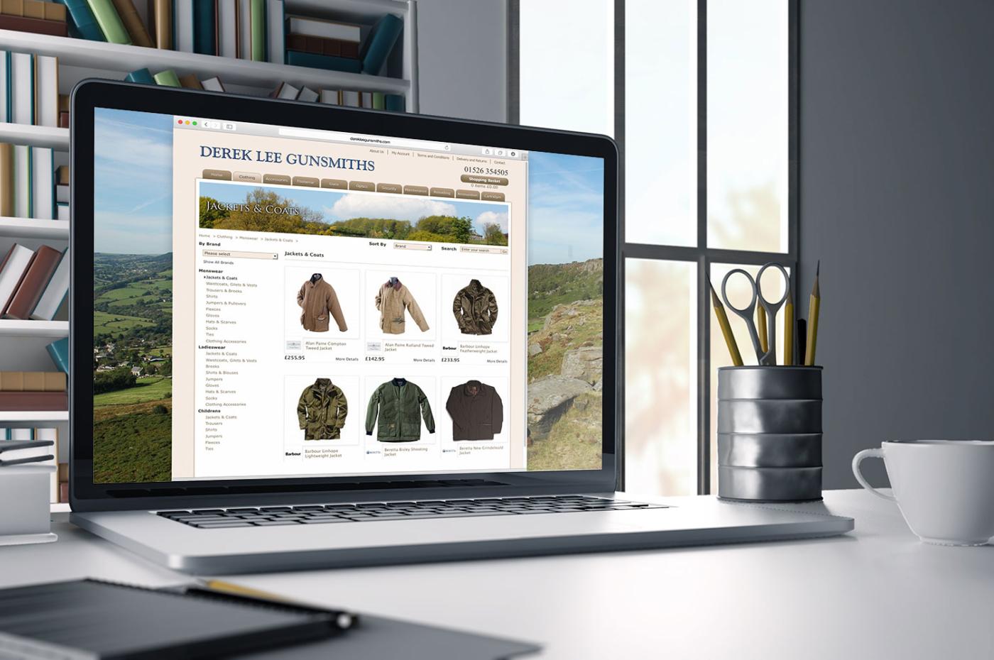 Derek Lee gunsmiths ecommerce website screenshot